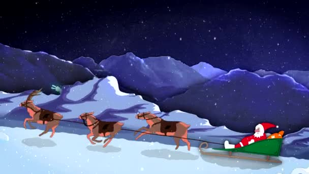 Karácsony és újév 2d rajzfilm animációs Santa