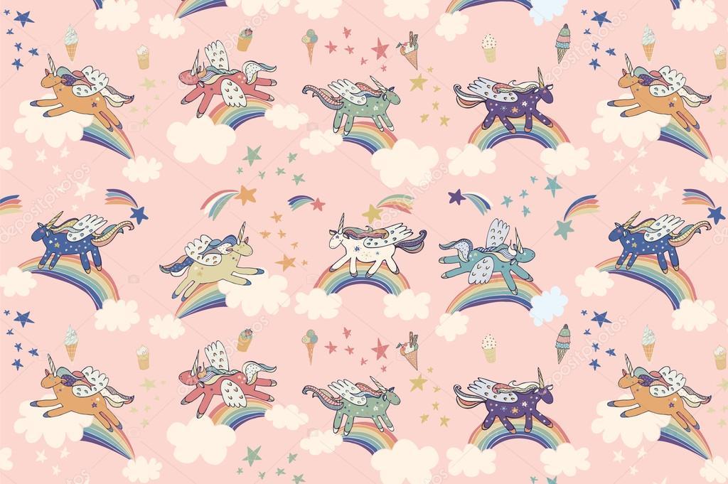 wonderland unicorn pattern