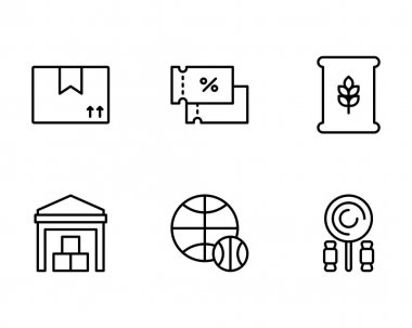 Set of 9 business icons. outline pack of 16, made by... icon