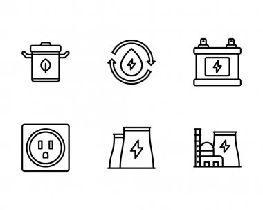 Oil pump icon set. outline pack of 16 fuel vector icons for web isolated on white background icon