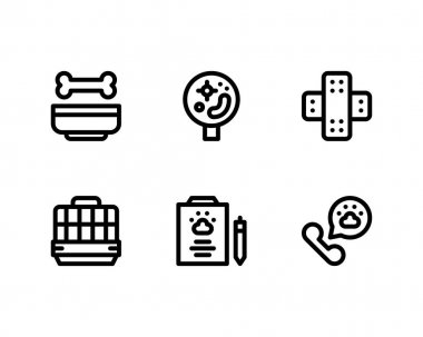 Set of Animal Rescue icons, vector icon