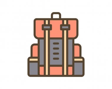 Travel bag icon vector. thin line sign. isolated contour symbol illustration icon