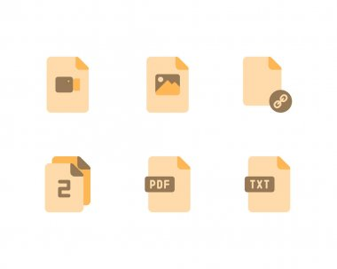 Set of Files And Documents icons. vector illustration icon