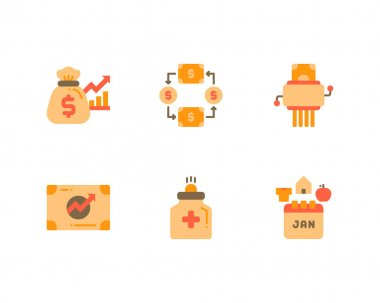 Set of Financial Wellness icons. vector illustration icon