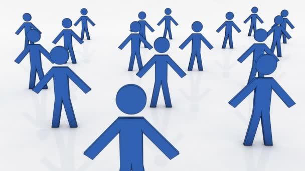 Volba práva osoby, koncepční obchodní ilustrace.
