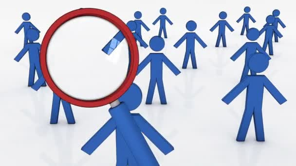 Auswahl der richtigen Person, konzeptionelle Geschäftsveranschaulichung.