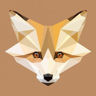 Low poly fox vector