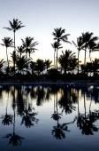 Západ slunce na Karibské pláži