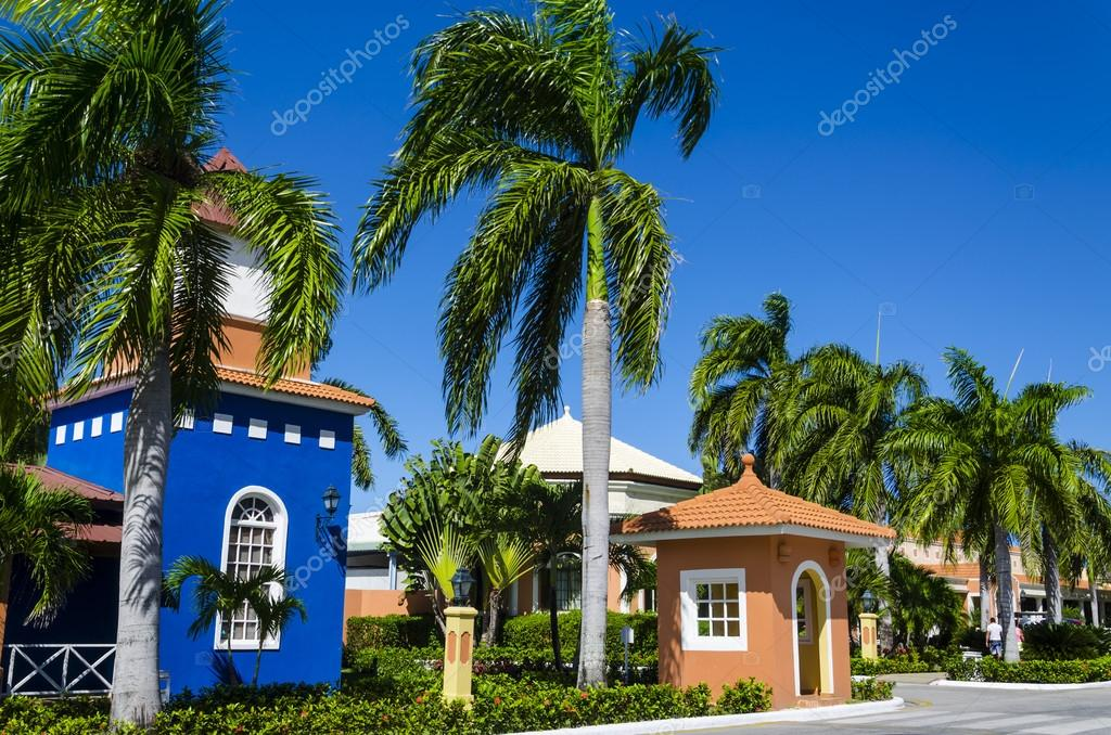Colorful Exotic Houses Among Palm Trees U2014 Photo By Ankamonika