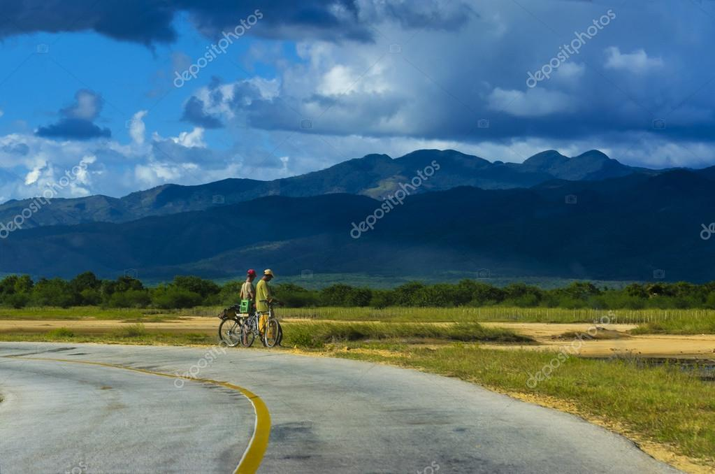 Two cyclists on the road