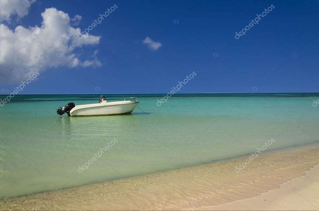 boat on azure ocean