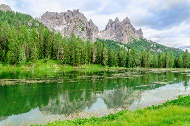 Lake Misurina in Sexten Dolomites, Italy