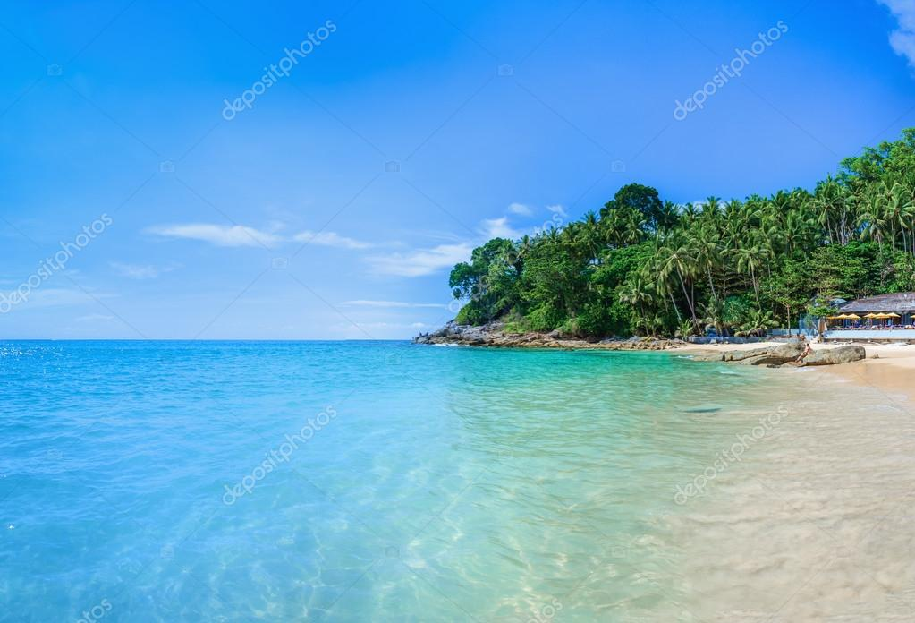 Paradise beach with golden sand, Thailand