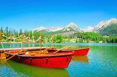 Fotografie Horské jezero Štrbské Pleso na Slovensku, Evropa