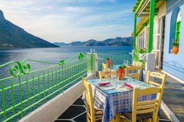 Cozy Greek restaurant with sea view, Greece