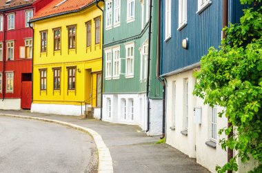 Rodelokka in Oslo, the wooden village of Norway