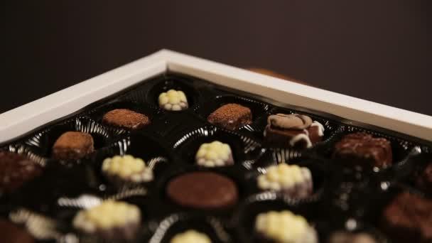 Čokoládové bonbony kolekce.