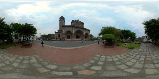 Manilská katedrála, Intramuros, Manila, Filipíny.360-stupňový pohled