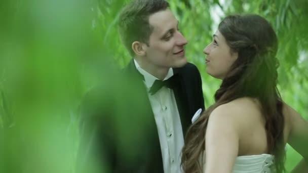 krásná mladá Svatební pár