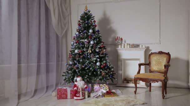 vánoční obývací pokoj.