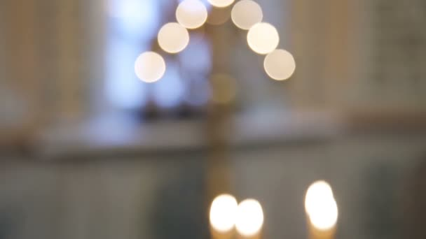 Burning candles in the Christian church