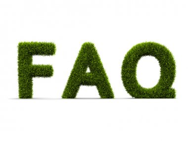 Frequently Asked Question covered grass
