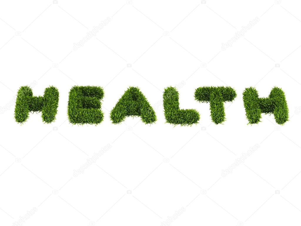 word health covered grass