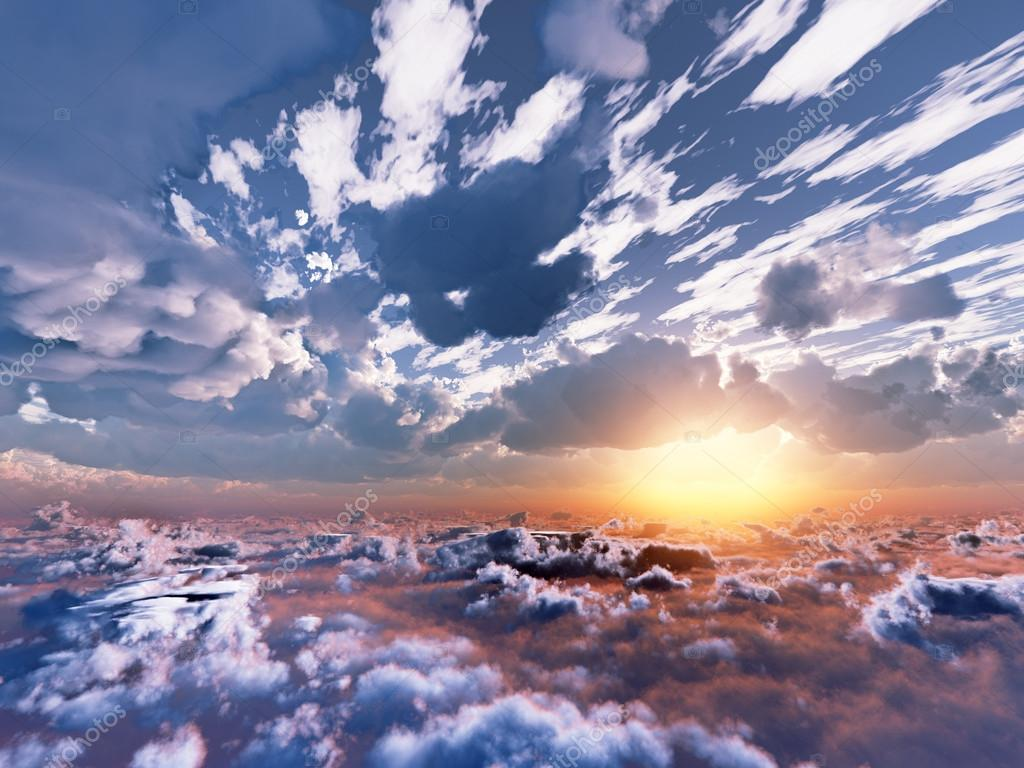 Beautiful view above clouds — Stock Photo © stavklem_sale ...