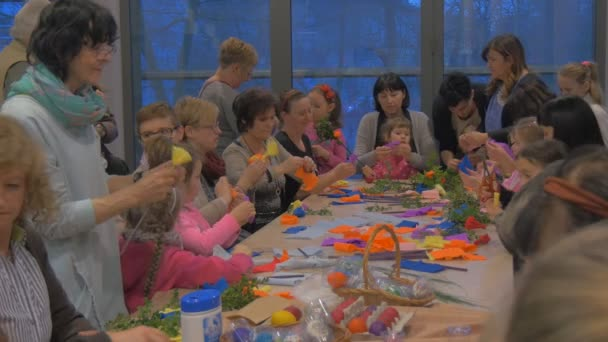 People making paper flowers family master class opole poland making people making paper flowers family master class opole poland making easter decoration colorful eggs and paper mightylinksfo