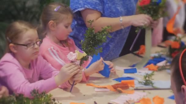 Kids are making paper flowers at family master class opole poland kids are making paper flowers at family master class opole poland artificial bouquets preparation to the mightylinksfo