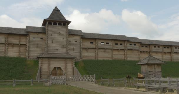 Starověké město rekonstrukci, Kyjevská Russ, kulatin, struktura, brány, střílnami, Bribge