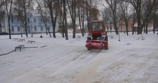 Motor Des Traktors Fallt Unter Teppich Red Tractor Bulldozer Ist Die