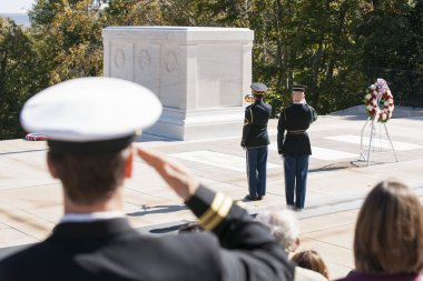 Changing of Guard Ceremony at Tomb of Unknown Soldier Arlington