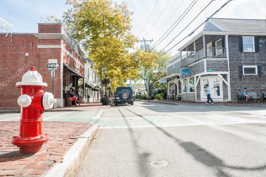 Small town america street scene stock editorial photo Smallest city in america