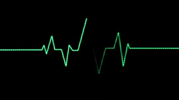 Animationsblitz eines Herzschlags