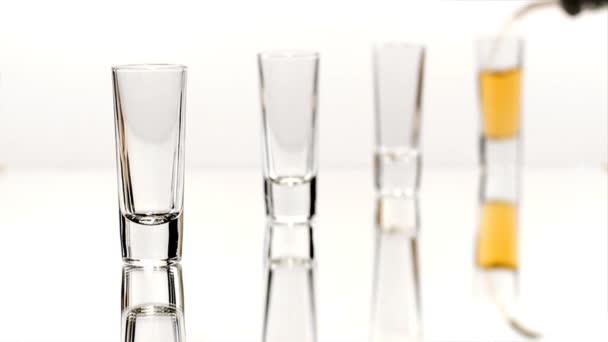 Four double shot glasses