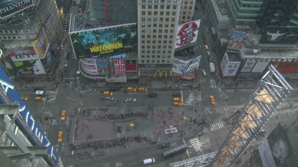 looking down on Times Square in New York