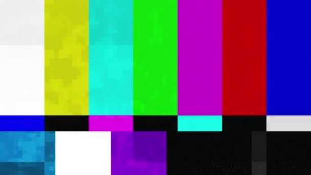 sada barevných pruhů technické potíže