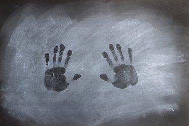 Chalkboard Hand Prints