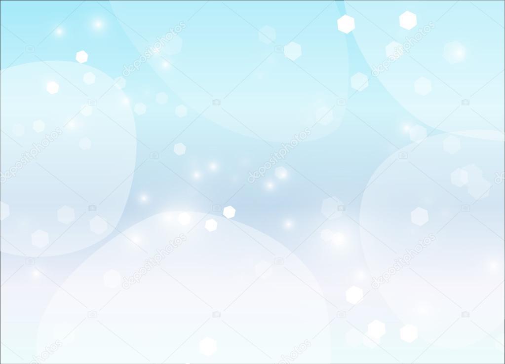 Azul Bokeh Vector De Fondo Claro Brillante