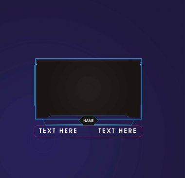 face cam, web camera, webcam, game, stream panel and screens overlays for gamers and streamers