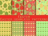 Fényképek Húsvét. Varrat nélküli minták összessége. Húsvéti nyuszi és a húsvéti tojás. A sablon a tapéta, csempe, szövetek és struktúrák. Vektor.