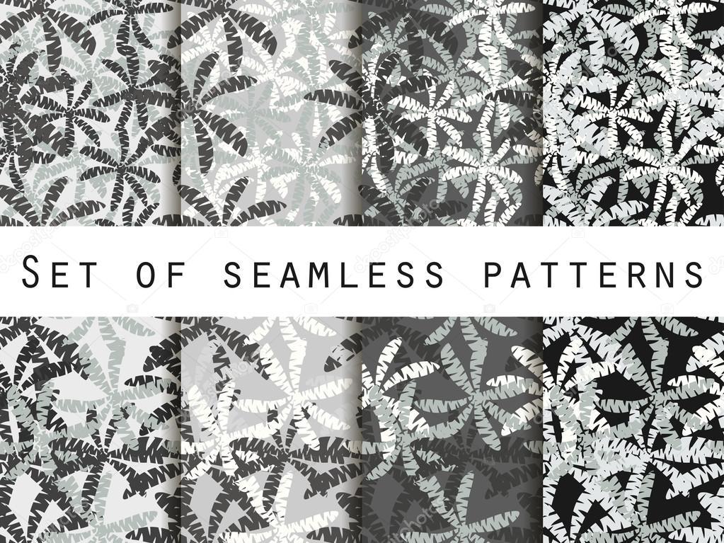 Árboles de Palma, hojas de palmera. Patrones sin fisuras. El patrón ...