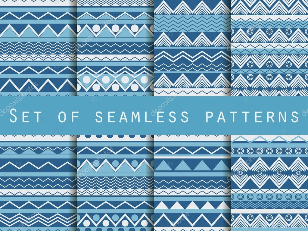 Set The Texture Seamless In Ethnic Style Tribal Seamless Texture