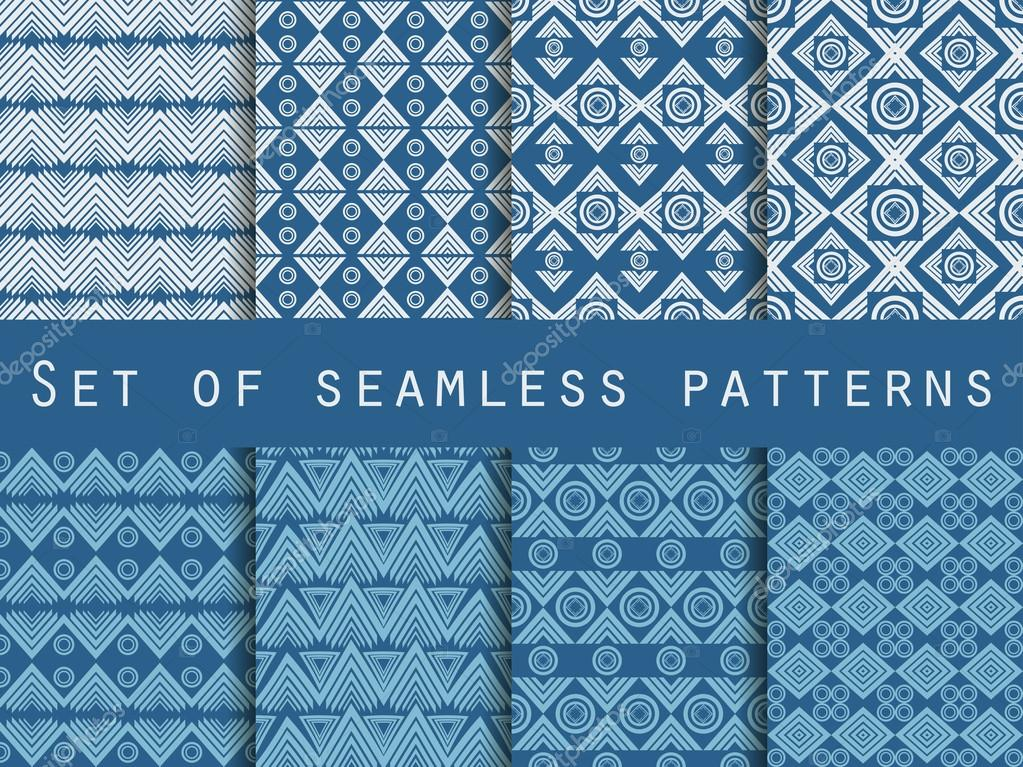 Set The Texture Seamless In Ethnic Style Geometric Seamless Pattern