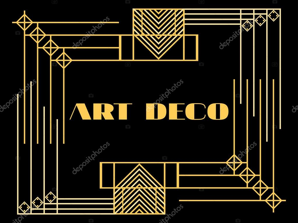 cadre art d co art d co cadre vintage g om trique arri re plan de style r tro style des. Black Bedroom Furniture Sets. Home Design Ideas
