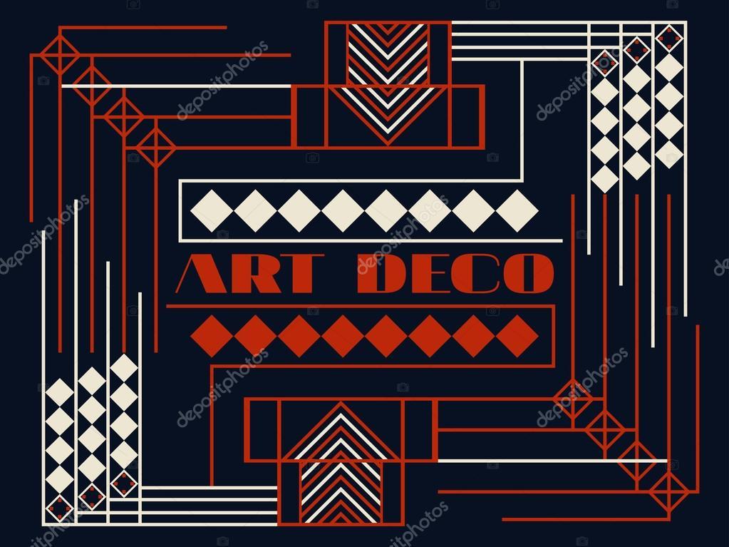 Cadre Art Déco Art Déco Cadre Vintage Géométrique Arrière Plan De