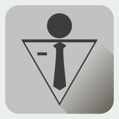 Stick Figure. Icon flat.Consultant, business Men