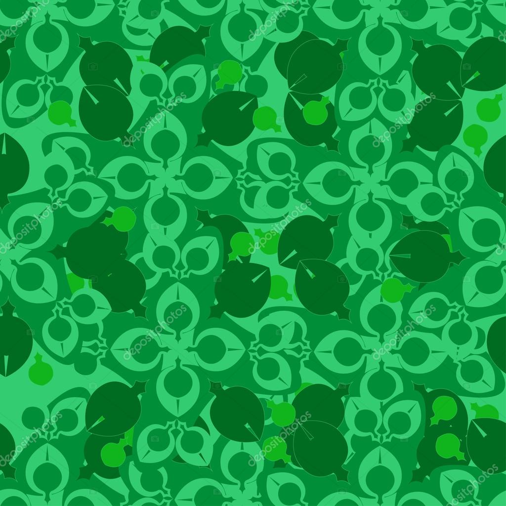 Seamless flower pattern. Floral bouquet. Ornamental round lace pattern, pattern with many details, Colorful pattern of the card. Green floral pattern