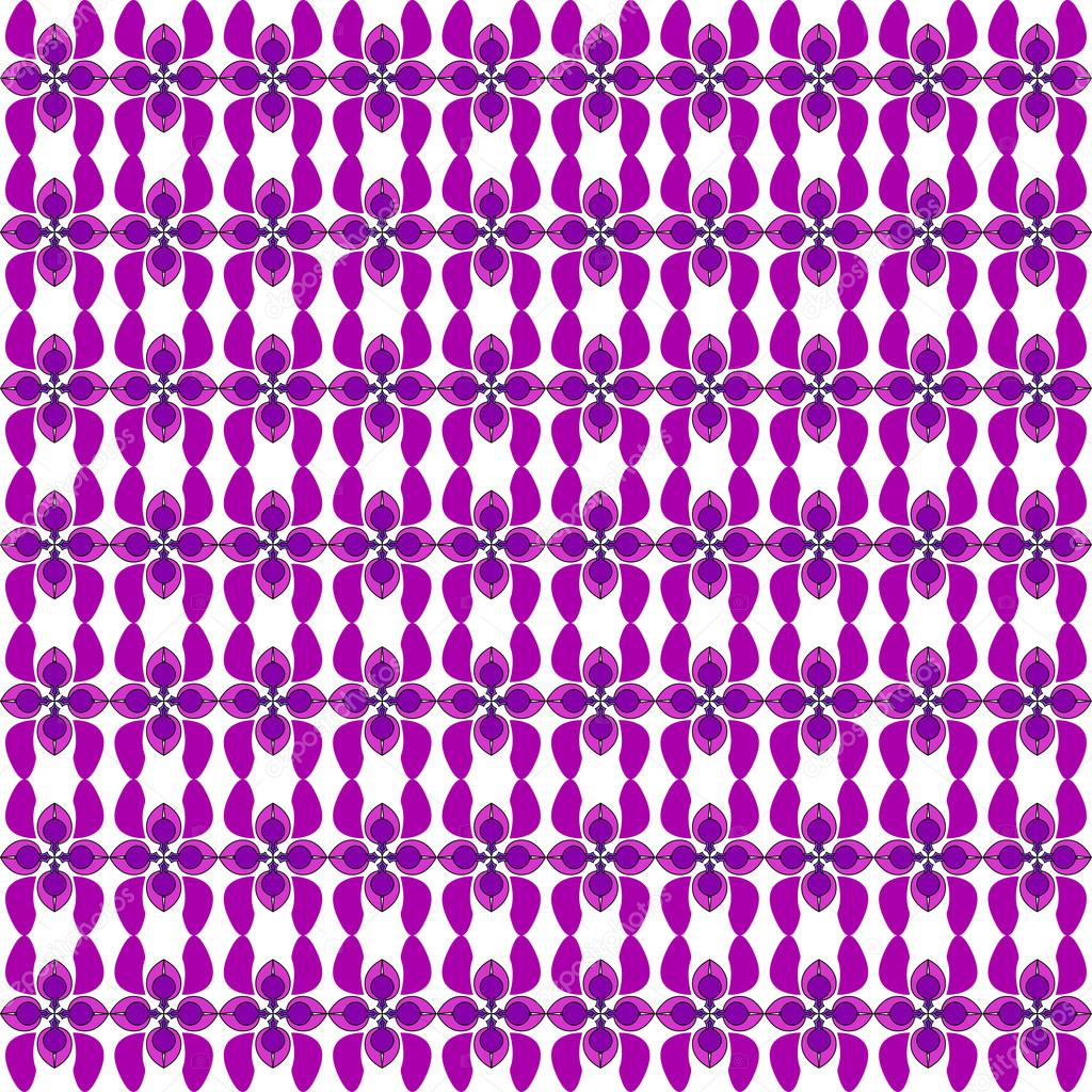 Seamless flower pattern. Floral bouquet. Ornamental round lace pattern, pattern with many details, Colorful pattern of the card. Purple floral pattern